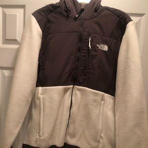 White & Grey North Face Jacket